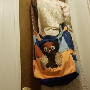 Handmade Boho Owl Patchwork Shoulder Bag/Purse